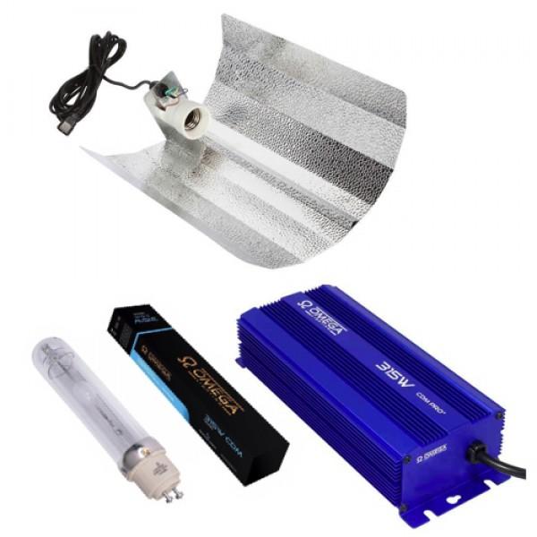 315w Omega Ballast, Omega Bulb, Euro Reflector Lighting Kit (3000k Bulb for Veg & Flower Stages)