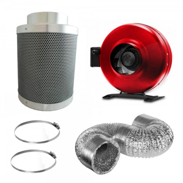 "4"" (320m3/hr) Pro Fan & Filter Kit"